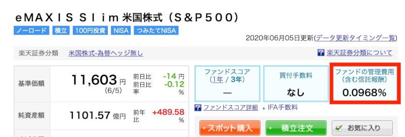 格安の運用コストが人気の「eMAXIS Slim 米国株式(S&P500)」
