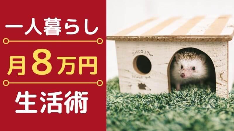 【一人暮らしの生活費節約】1ヶ月8万円で暮らす方法