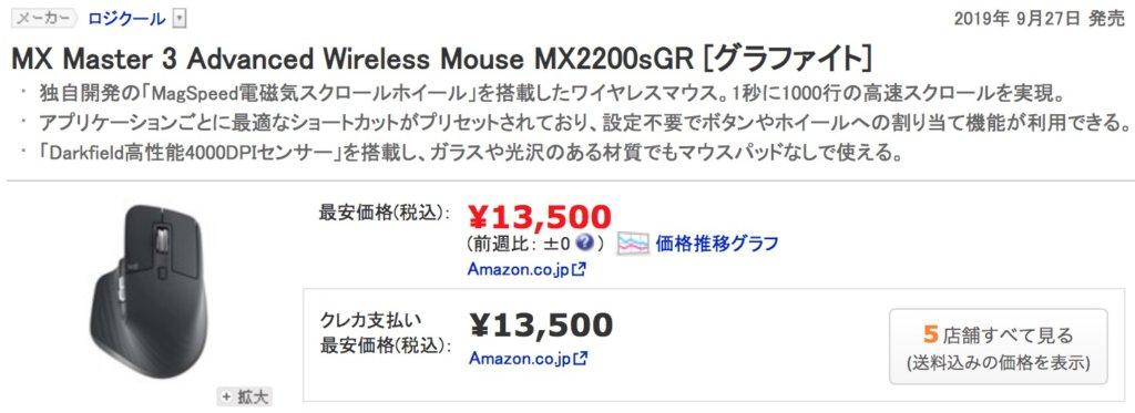 ハイエンドマウス「MX2200sGR」の価格
